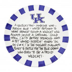-of-kentucky-wildcats-plate-hand-painted-ceramic-kentucky-fan-sayings ...