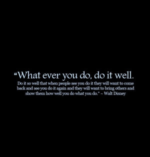 Walt Disney's Success Quote