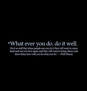 Walt Disney's Success Quote