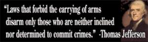 ... Bumper Stickers :: Thomas Jefferson Gun Rights Quote Bumper Sticker