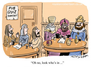 Christmas Wise Man Cartoon