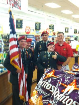Army JROTC Color Guard