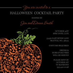 Halloween party invite by PurpleTrail.