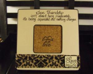 ... friendship frame Friend far away gift Goodbye friend frame Sentimental