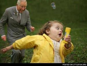 Prince Charles chasing girl