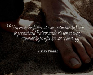 Son needs his father at every situation he Face in present and Father ...
