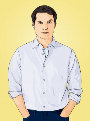 Celebrity Cartoon Michael Ian Black Photo