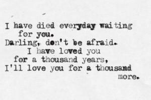 Thousand Years,