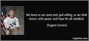 More Eugene Cernan Quotes