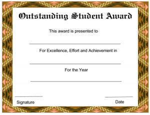 Outstanding Student Award...