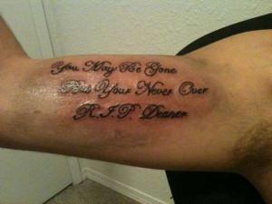 Rest In Peace Memorial tattoo