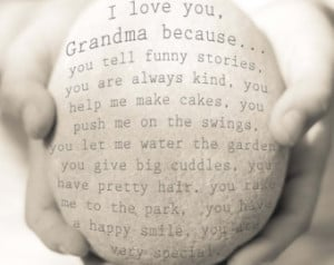 Love My Grandma Sayings Personalised i love you