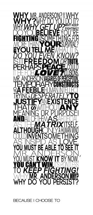 The Matrix Quotes Matrix agent smith final