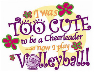 Funny VolleyballSlogans for the Female Volleyball Players