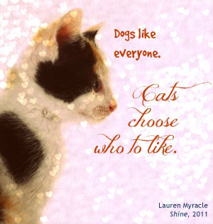 ya fiction | cats vs. dogs | book quotes | Lauren Myracle