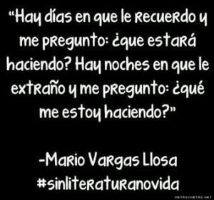 Mario Vargas Llosa ... ¿Que me estoy haciendo?
