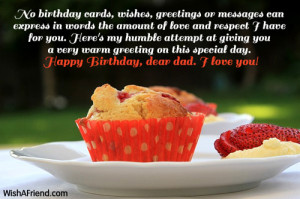 ... how highly I think of you and how much I love you. Happy Birthday dad