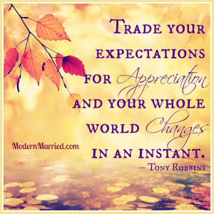 expectations, appreciation, gratitude, thanksgiving anthony robbins