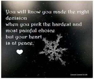 Hard decisions.