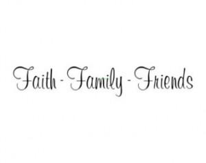 Faith Family Friends - Wall Decal - Vinyl Wall Decals, Wall Decor ...
