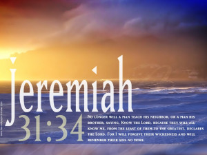 Bible verse of the day Jeremiah 31:34