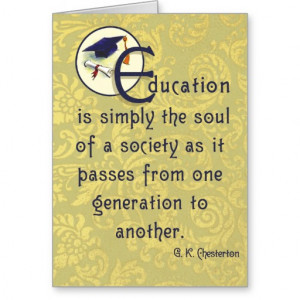 Graduation Card G.K. Chesterton quote