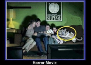 EPIC Family watching HORROR movie