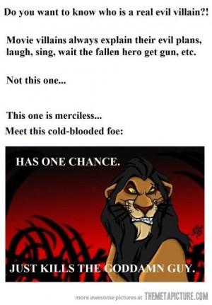 Funny photos funny Scar Lion King villain
