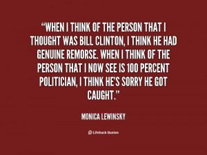 Monica Lewinsky Bill Clinton Quote