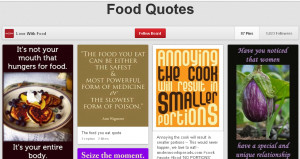 Food Quotes on Pinterest