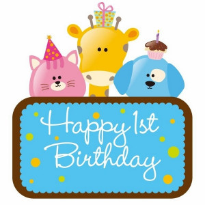 Happy 1st Birthday Greetings