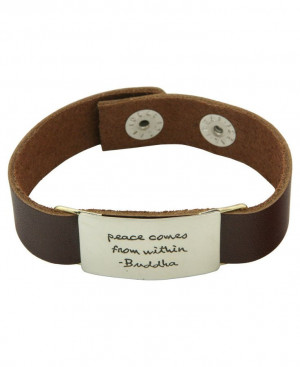 Buddha Quote Leather Bracelet