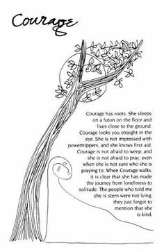 Courage by J. Ruth Gendler - from The Book of Qualities More