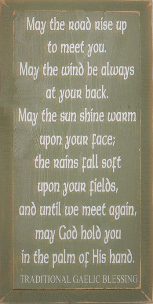 Wooden Irish Blessing Plaque - Shop Irish