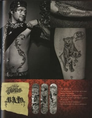 bam margera tattoos meanings