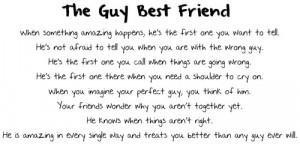 The Guy Best Friend - Friendship Quote