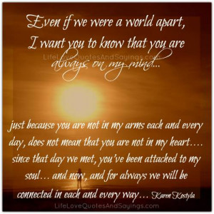 Even If We Were A World Apart..