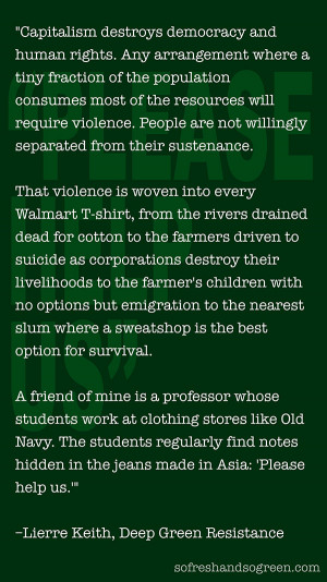 "QUOTE: ""Violence Is Woven Into Every Walmart T-Shirt"""