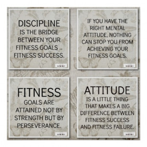Quotes for Fitness Motivation Print