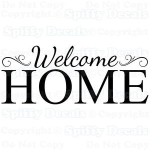 WELCOME-HOME-Family-Removable-Vinyl-Wall-Decals-Sticker-Spiffy-Decals
