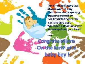 ... and delight at the arrival of a baby boy in your loved one's family