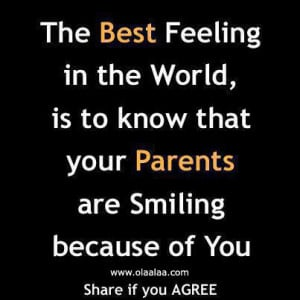 Parents love quotes – The best feeling in the world