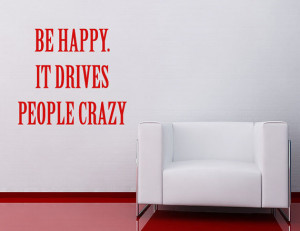 ... Funny Quote Wall Sticker Novelty Gift for Home Office Living Room
