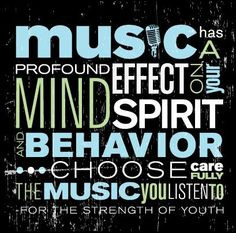 The music we listen to has a big impact on our thoughts and actions ...