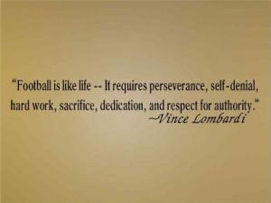 Buy Vince Lombardi - Football Is Like Life - Vinyl Wall Art Lettering ...