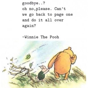 Search result for winnie the pooh saying goodbye quotes