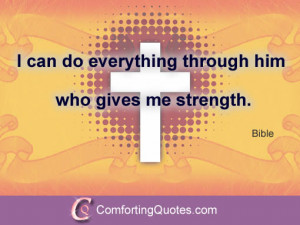 Strength Sayings from the Bible