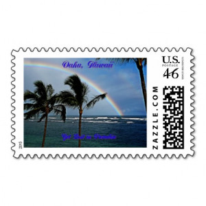 Hawaiian Words and Quotes Stamp