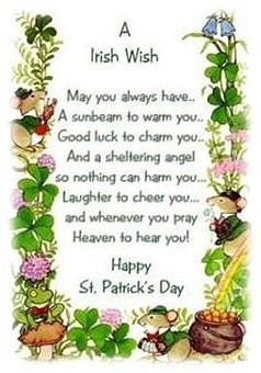 An Irish Wish for St. Patrick's Day