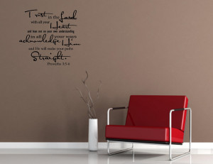 Vinyl wall words quotes and sayings Trust in the Lord by vinylsay